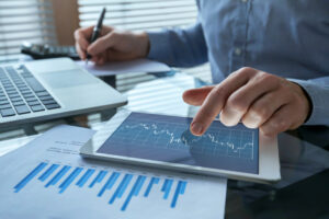 financial reporting software features on an ipad