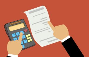 expense reporting process with a calculator